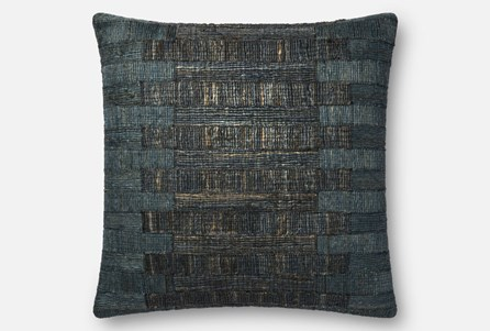 Accent Pillow-Magnolia Home Jute Teal 22X22 By Joanna Gaines