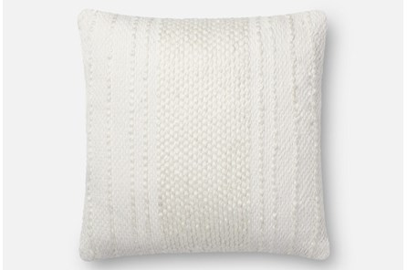 Accent Pillow-Magnolia Home Center Stripe Ivory/Ivory 18X18 By Joanna Gaines