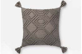 Accent Pillow-Magnolia Home Diamond Knot Grey 22X22 By Joanna Gaines