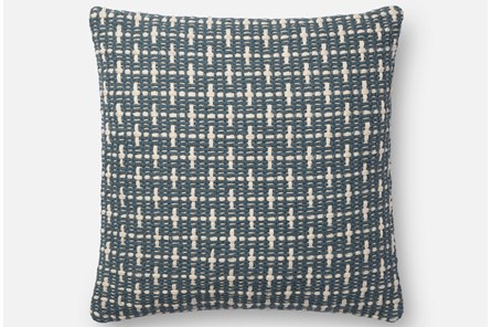 Accent Pillow-Magnolia Home Basketweave Blue 18X18 By Joanna Gaines - Main