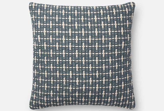 Accent Pillow-Magnolia Home Basketweave Blue 18X18 By Joanna Gaines - 360