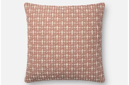 Accent Pillow-Magnolia Home Basketweave Blush 18X18 By Joanna Gaines