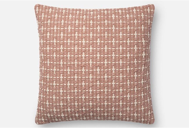Accent Pillow-Magnolia Home Basketweave Blush 18X18 By Joanna Gaines - 360