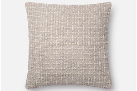 Accent Pillow-Magnolia Home Basketweave Grey 18X18 By Joanna Gaines - Main