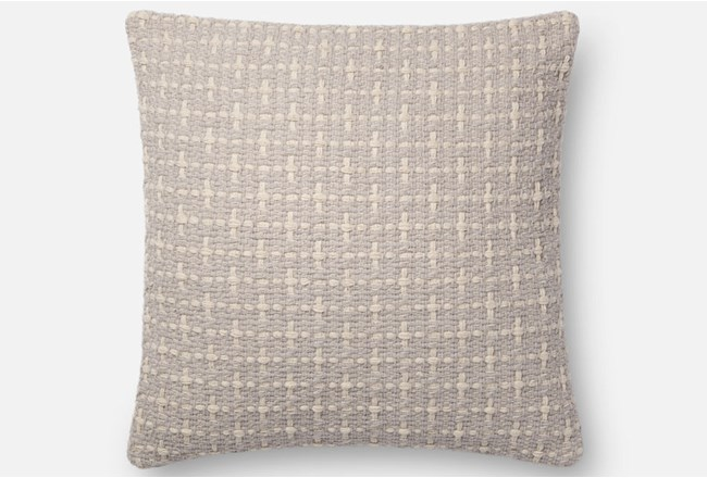Accent Pillow-Magnolia Home Basketweave Grey 18X18 By Joanna Gaines - 360