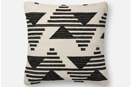 Accent Pillow-Magnolia Home Mod Triangle Black/White 22X22 By Joanna Gaines