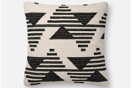 Accent Pillow-Magnolia Home Mod Triangle Black/White 22X22 By Joanna Gaines - Main