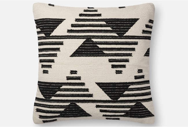 Accent Pillow-Magnolia Home Mod Triangle Black/White 22X22 By Joanna Gaines - 360