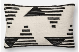 Accent Pillow-Magnolia Home Mod Triangle Black/White 13X21 By Joanna Gaines