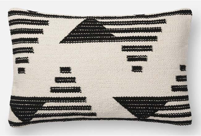 Accent Pillow-Magnolia Home Mod Triangle Black/White 13X21 By Joanna Gaines - 360