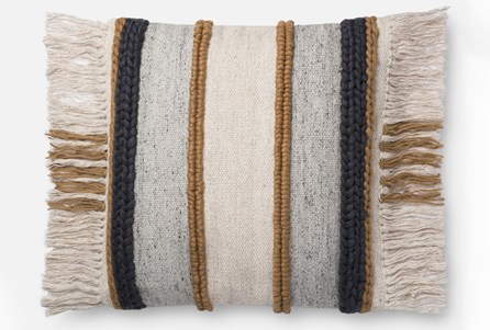Accent Pillow-Magnolia Home Braided Fringe Gold/Multi 22X22 By Joanna Gaines