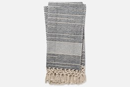 Accent Throw-Magnolia Home Braided Fringe Navy/Light Blue By Joanna Gaines