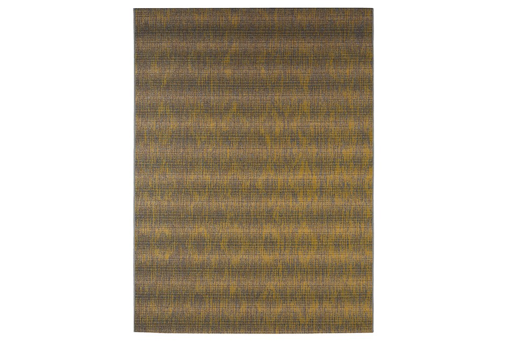 61X84 Outdoor Rug-Grey And Yellow Distressed