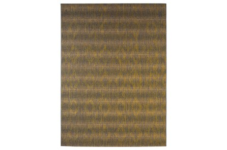 98X120 Outdoor Rug-Grey And Yellow Distressed
