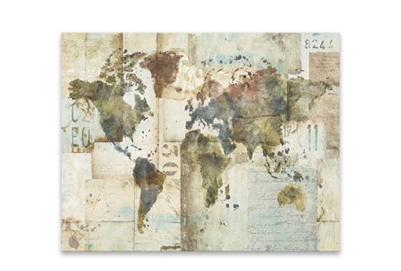 Picture-World Map Collage 28X22
