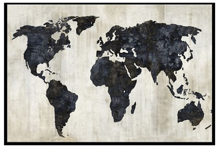Picture-Sepia World Map 36X24