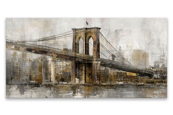 Picture-Golden Bridge On Aluminum 30X15