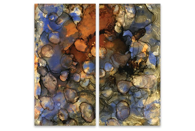 Picture-Copper And Blue On Aluminum 30X30 - 360