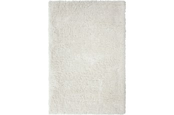 63X90 Rug-Feather Shag Stone