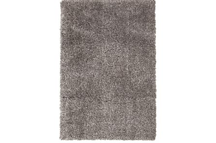94X126 Rug-Feather Shag Heather Grey