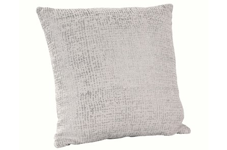 Accent Pillow-Silver Metallic Overlay 18X18