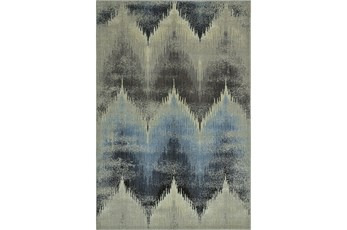 59X89 Rug-Large Flamestitch Blue/Grey