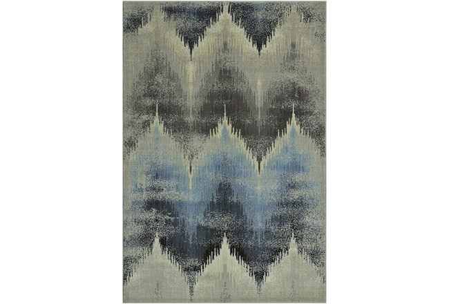 59X89 Rug-Large Flamestitch Blue/Grey - 360