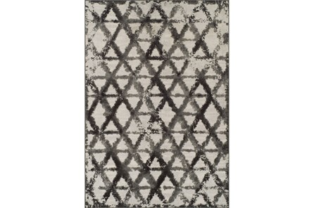 94X127 Rug-Shibori Pewter Diamonds