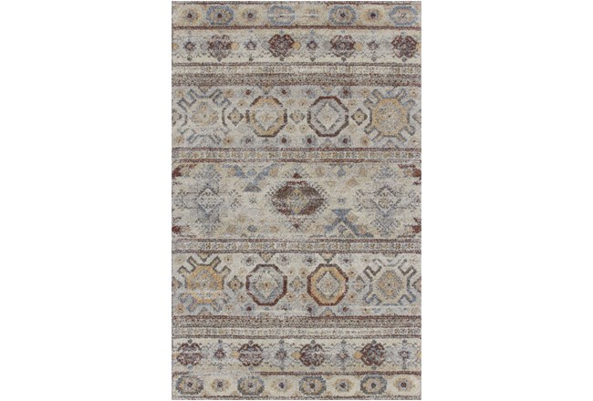 63X93 Rug-Delhi Orange/Blue Pattern - 360