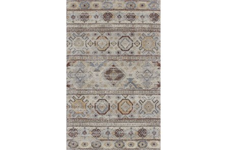 94X127 Rug-Delhi Orange/Blue Pattern