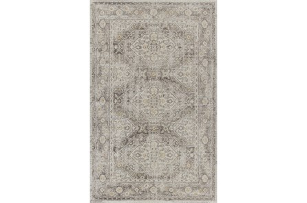63X93 Rug-Carly Taupe Traditional