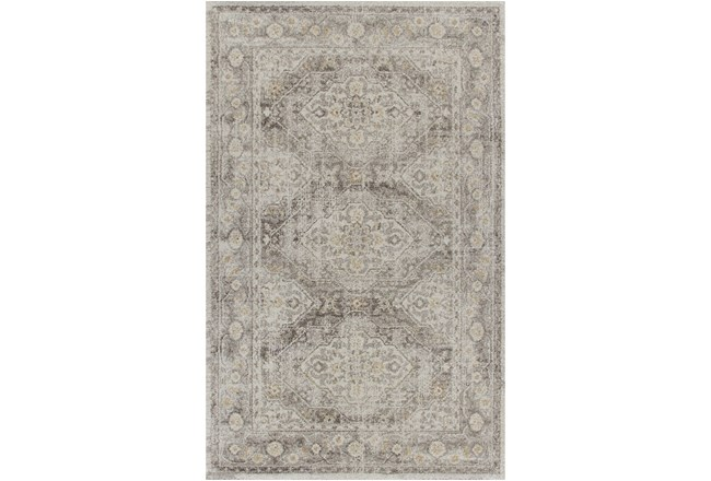 63X93 Rug-Carly Taupe Traditional - 360