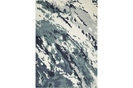 61X89 Rug-Galaxy Swirl Denim