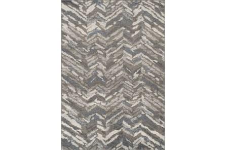 96X120 Rug-Vintage Herringbone Grey/Slate