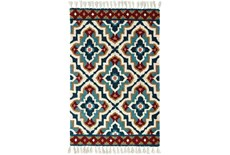 30X96 Rug-Tatiana Navy With Tassles