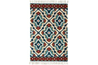 60X96 Rug-Tatiana Navy With Tassles