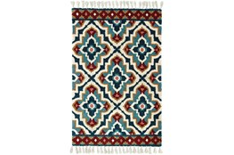 10'x13' Rug-Tatiana Navy With Tassles