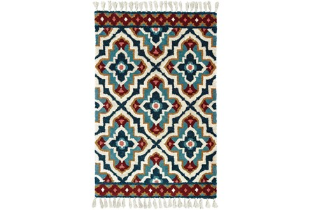 120X156 Rug-Tatiana Navy With Tassles