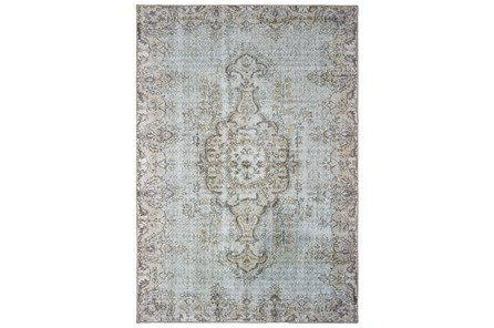 90X119 Rug-Archer Distressed Light Blue