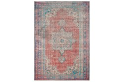 "7'5""x9'9"" Rug-Archer Distressed Red/Blue"