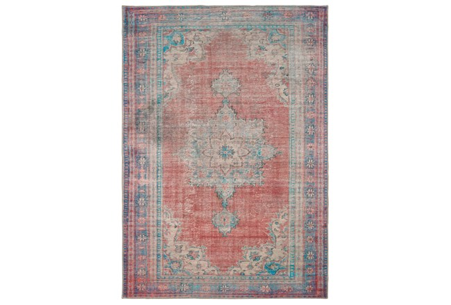90X119 Rug-Archer Distressed Red/Blue - 360