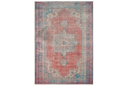 99X138 Rug-Archer Distressed Red/Blue