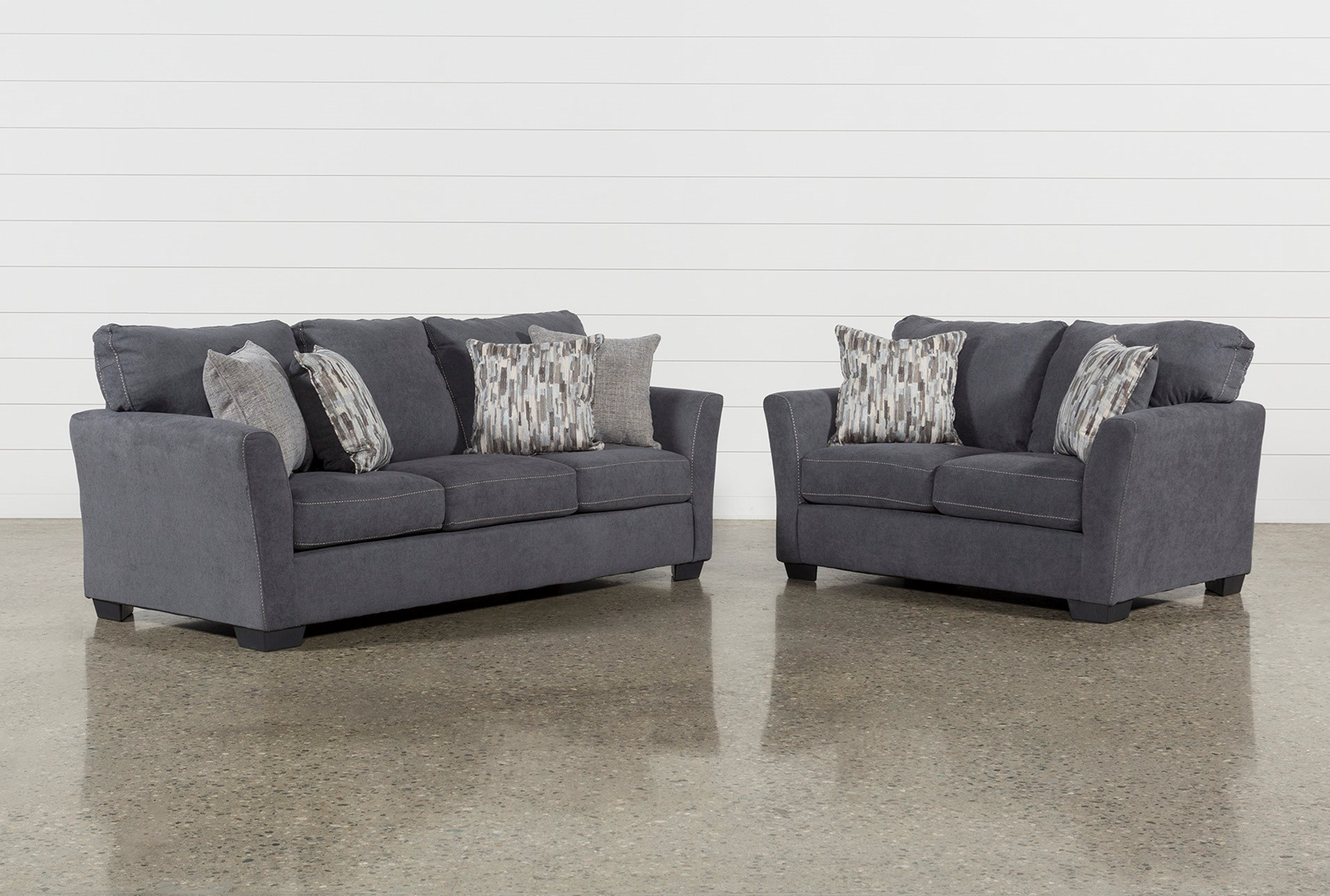 living spaces living room sets sectional lennon steel piece living room set 360 spaces