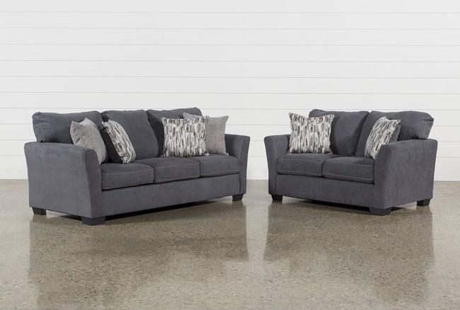 Lennon Steel 2 Piece Living Room Set - 360