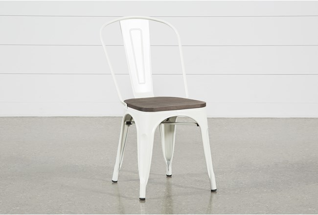 Delta White Dining Side Chair - 360