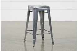 Radical Silver 26 Inch Counter Stool