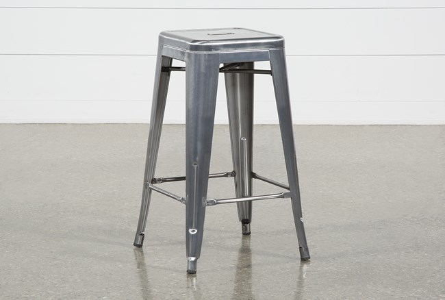 Radical Silver 26 Inch Counterstool - 360