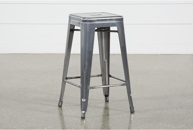 Radical Silver 26 Inch Counter Stool - 360