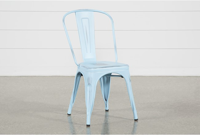 Delta Blue Side Chair - 360