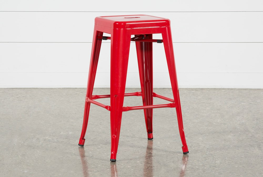 Radical Red 26 Inch Counter Stool